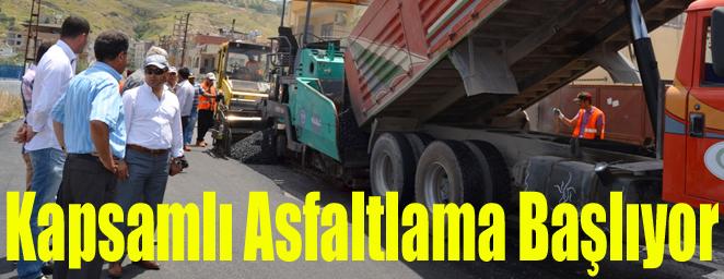 kapsamlı asfaltlama