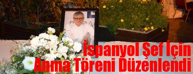 ispanyol şef anma1